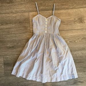 American Eagle Pinstripe Blue and White Dress